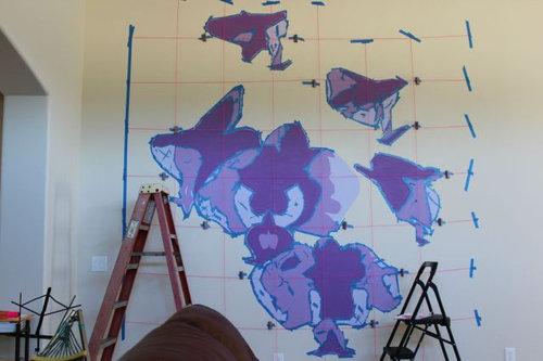 エンジニアが壁に蘭を描いた06