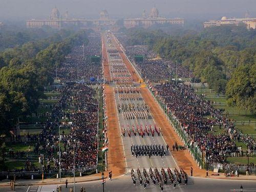 インドの軍事パレード01