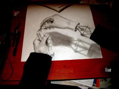 立体鉛筆画08