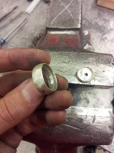 コインから作ったリング19