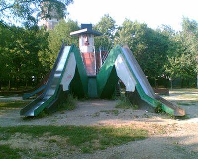 ロシアの公園の遊具05
