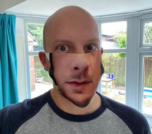 口元の印刷をしたマスク05