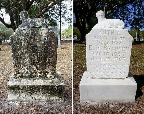 退役軍人の墓を磨く男性09