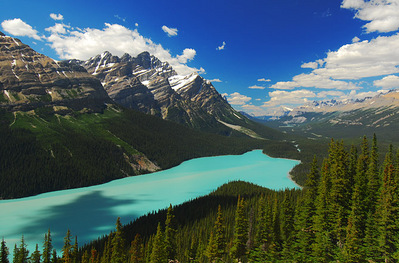 03-カナダ、ロッキー山脈のペイトー湖