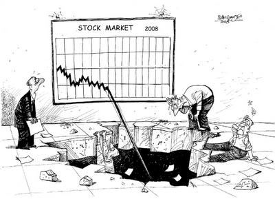アメリカの株価の暴落ぶり
