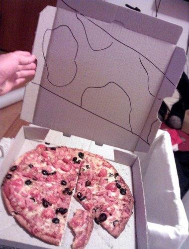 ピザのデリバリーの絵17