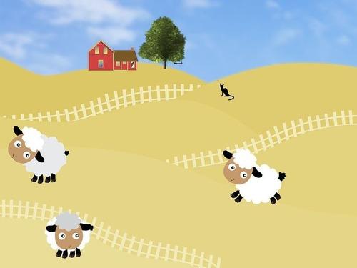 夜中に羊の群れを見に行かないほうがいい