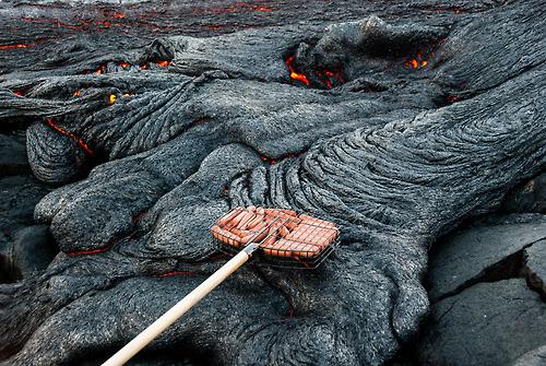溶岩でバーベキュー01