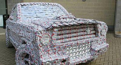 ビール缶の車