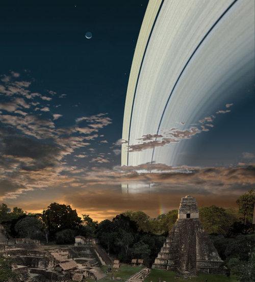 もし地球に土星の輪があったら…地上からはこう見える02