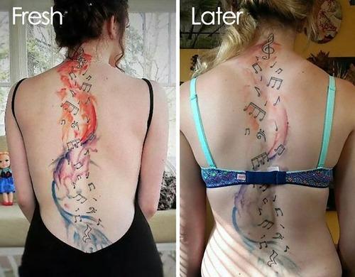 タトゥーの劣化04