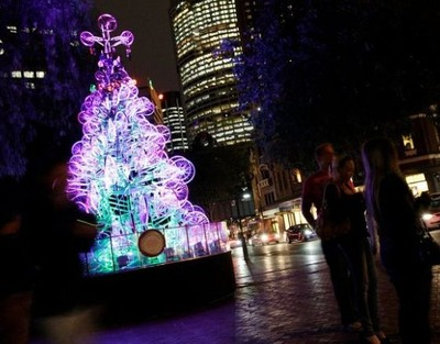 自転車クリスマスツリー07