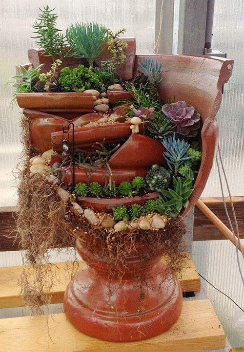 植木鉢が割れたら捨てずにこんな風にリサイクル04