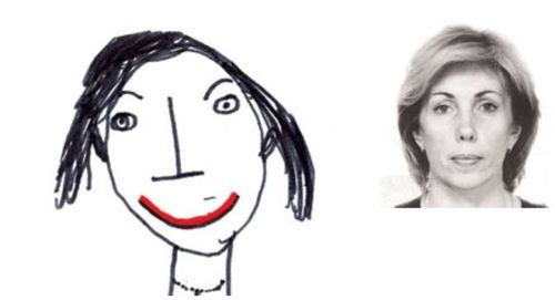 お母さんの似顔絵12