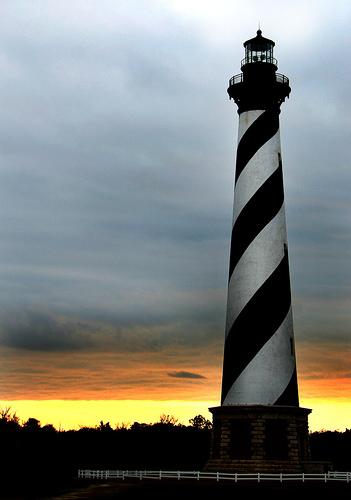 世界の灯台-ケープ・ハテラス灯台(米国)