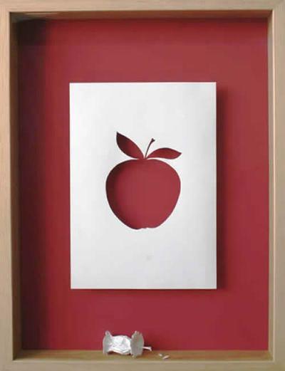 美しく繊細なペーパーアートの世界-りんご