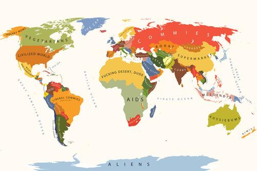 アメリカ人にはこう見える世界地図00