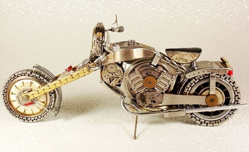時計で作ったバイク17