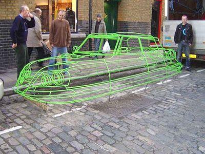 ワイヤーフレームの車13