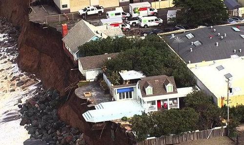 カリフォルニアのアパートが崖っぷち07