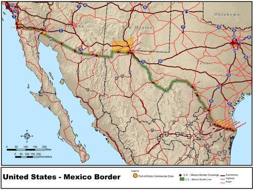 アメリカとメキシコの国境線00