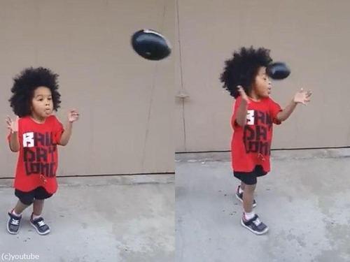 息子がボールを受け止められるようになった03