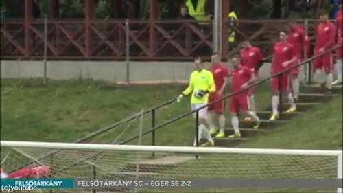 ハンガリー人のサッカー選手の入場のしかた03