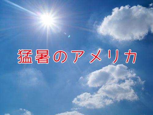 最近恐ろしく暑い00