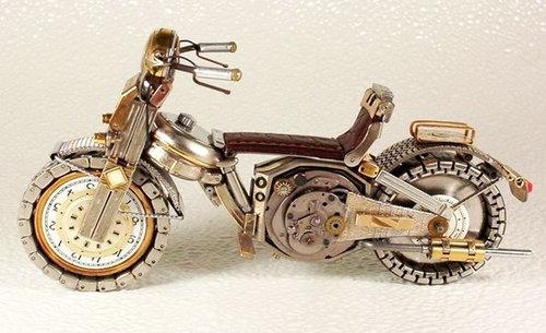 時計で作ったバイク14