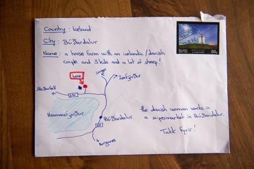 アイスランドは地図で手紙が届く01