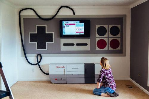 子供部屋を「ファミコン」風に改装15