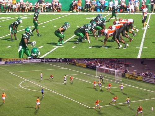 アメフトとサッカーの違い
