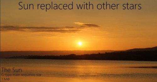 夕日を太陽以外の恒星にしたら01