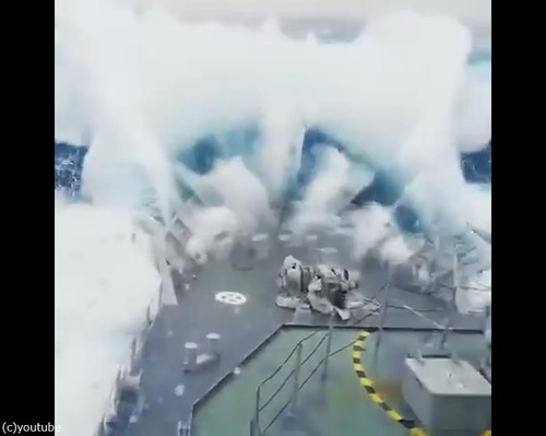 軍艦が撮影した動画03