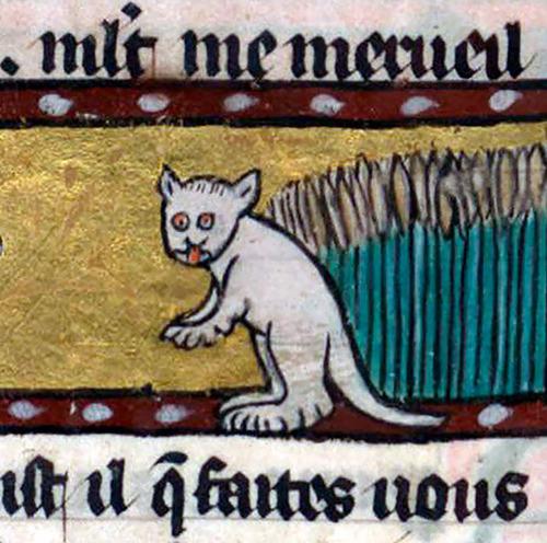 中世の絵画に登場する「猫」01