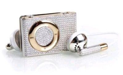 金とダイヤモンドのiPod Shuffle