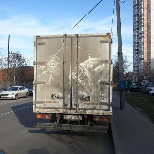汚れたトラックアート02