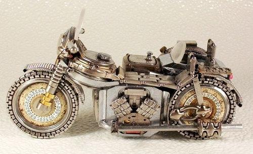 時計で作ったバイク19