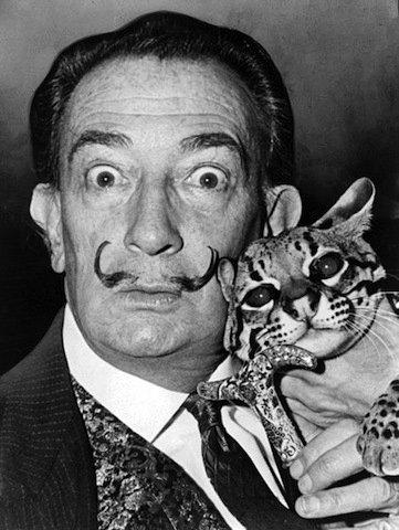芸術家と猫 dali1