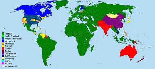世界の国別人気のスポーツ01