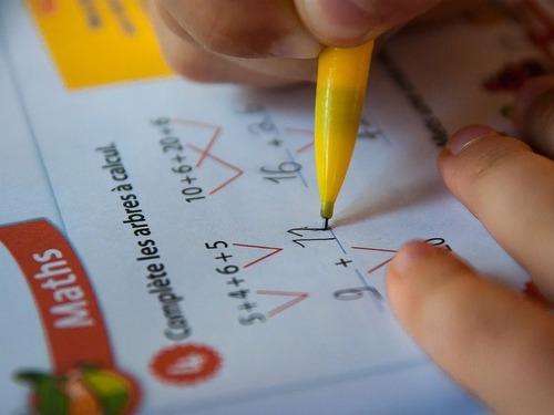 息子が算数のテストで100点だった
