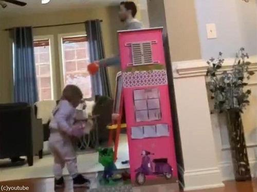 娘のバスケのおもちゃとパパ03