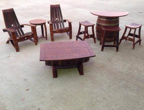 ワイン樽から作った家具14