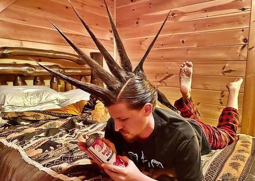 長髪な彼氏のヘアスタイルを魔改造02