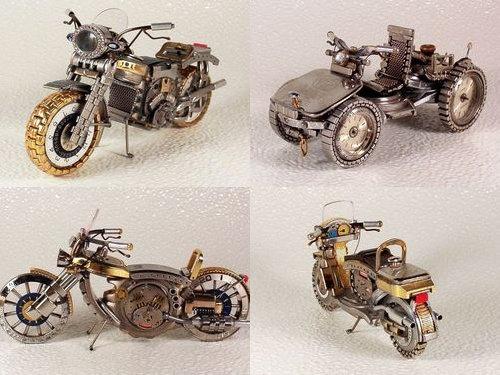時計で作ったバイク00