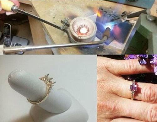 自分で金を採掘して、婚約指輪を作った04