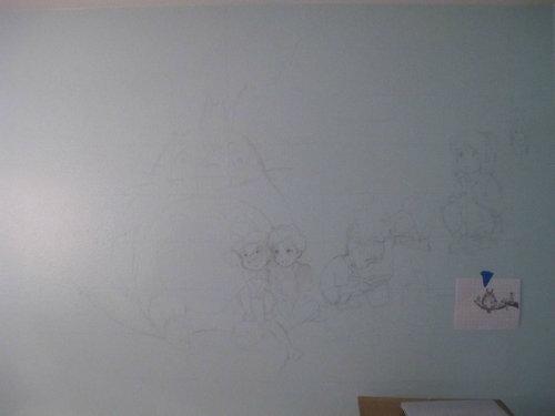 子供部屋に描いたジブリ01