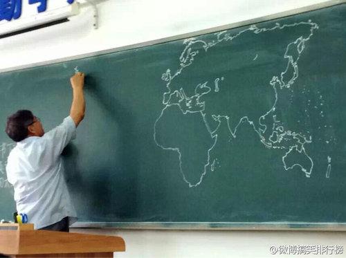 黒板に世界地図05