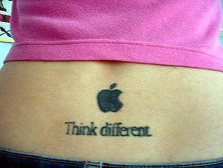 appleロゴのタトゥー15