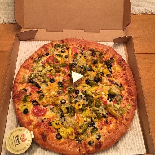 ピザの写真を撮ったら動画に見える01